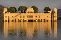 Дворец воды (Jal Mahal), Джайпур, Индия Стоковое Изображение
