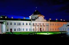 Дворец в взгляде ночи Kachanovka имущества Стоковое Изображение