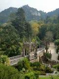 Дворец в дворце деревьев зеленого цвета sintra Стоковое Фото