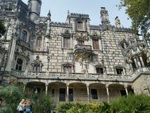 Дворец в дворце деревьев зеленого цвета sintra Стоковые Изображения