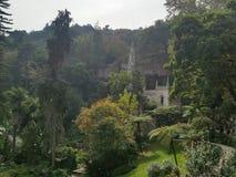 Дворец в дворце деревьев зеленого цвета sintra Стоковые Изображения RF