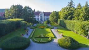 Дворец в Гданьске Oliwa, воздухе, 08 2017, Польша, воздух Стоковая Фотография