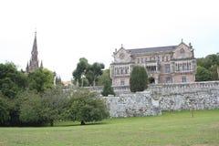 Дворец в городке, Comillas, Кантабрии Стоковое Изображение