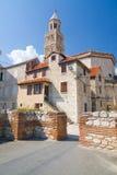 Дворец в историческом центре - место Dioclesian всемирного наследия ЮНЕСКО, разделение, Хорватия стоковые изображения rf