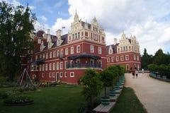 Дворец в парке Германии/Польше Muskauer Стоковые Фотографии RF