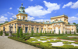Дворец в районе Wilanow в Варшаве, Польше Стоковые Фотографии RF