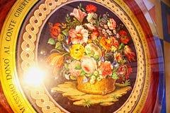 Дворец в стиле барокко внутреннее Isola Bella Lago Maggiore Италия стоковые изображения