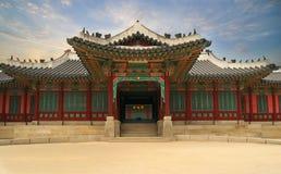 Дворец в Южной Корее стоковые изображения