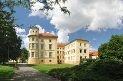 Дворец в Straznice в Моравии в чехии Стоковое фото RF
