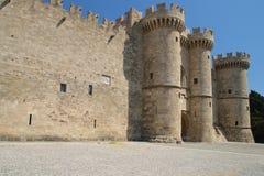 Дворец гроссмейстера рыцарей острова Греции Родоса стоковое фото rf