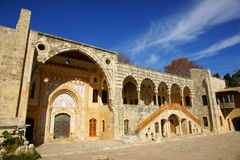 дворец двора beiteddine внутренний стоковое фото rf