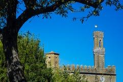 Дворец деревни итальянки Priors Volterra Стоковые Изображения RF