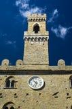 Дворец деревни Priors Volterra итальянской средневековой Стоковые Изображения RF