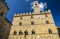 Дворец деревни 2 Priors Volterra итальянской Стоковые Изображения