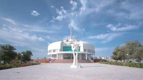Дворец замужества в hyperlapse timelapse Aktau kazakhstan видеоматериал