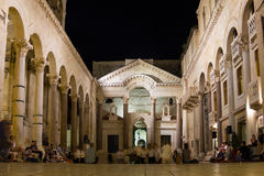 Дворец императора Diocletian разделение Хорватия Стоковое фото RF