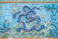 Дворец имперского дворца в стене дворца Пекина стоковые фото