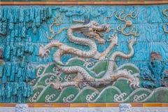Дворец имперского дворца в стене дворца Пекина стоковые изображения rf