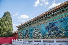Дворец имперского дворца в стене дворца Пекина стоковая фотография