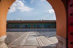 Дворец имперского дворца в стене дворца Пекина стоковое изображение rf