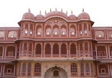 дворец Индии jaipur города богато украшенный Стоковая Фотография