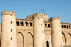 дворец Испания zaragoza aljaferia Стоковые Фотографии RF
