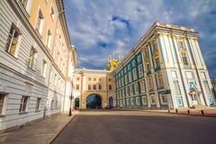 Дворец и лицей Катрина в Tsarskoe Selo Стоковое Изображение RF