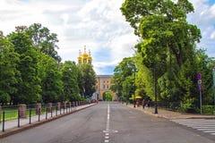 Дворец и лицей Катрина в Tsarskoe Selo Стоковые Изображения RF