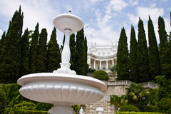 Дворец и парк в Gaspra Стоковое фото RF