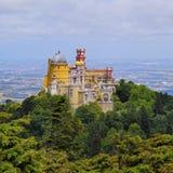 Дворец и парк Pena национальные в Sintra стоковое фото