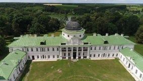 Дворец и парк Tarnowski в Kachanovka сток-видео