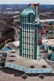 Дворец казино Бочонок Embassy Suites Ниагарский Водопад, вид с воздуха Стоковое фото RF