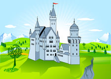 дворец королевский иллюстрация штока