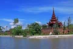 дворец короля mandalay стоковые изображения rf