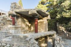 Дворец Крит Knossos Стоковое Изображение