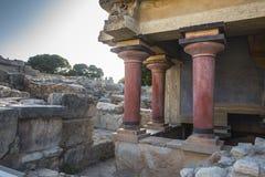 Дворец Крит Knossos стоковое изображение rf