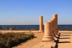 Дворец мыса Herods в национальном парке Caesarea Maritima Стоковая Фотография