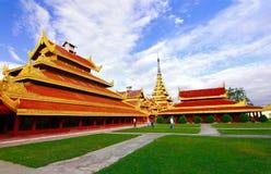 Дворец Мьянма Мандалая Стоковые Фото