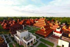 Дворец Мьянма Мандалая Стоковые Изображения