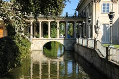 Дворец на воде или дворце Lazienki. Варшава. Польша. Стоковое Фото