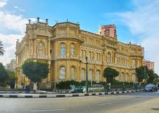 Дворец на Ниле, Каире, Египте Стоковое Изображение RF