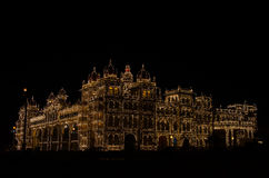 Дворец на ноче Стоковая Фотография RF