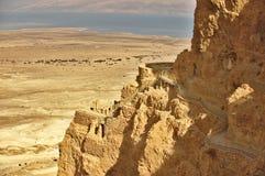 Дворец на утесе Masada, Израиль Irod Стоковые Фотографии RF
