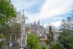 Дворец на Quinta da Regaleira в Sintra Стоковые Изображения