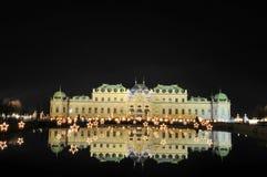 дворец ночи belvedere Стоковая Фотография RF