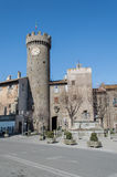 Дворец лоджии, Bagnaia, Витербо, Италия стоковая фотография rf