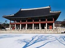 Дворец павильона-Gyeongbokgung Gyeonghoeru Стоковое Изображение
