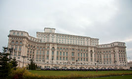 Дворец парламента в Бухаресте Стоковое Изображение RF