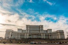 Дворец парламента в столица Бухаресте, Румынии Стоковая Фотография