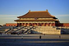дворец Пекин запрещенный городом Стоковые Изображения
